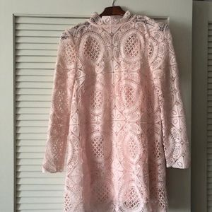 NWT Free People Pink Lace Dress - SZ M